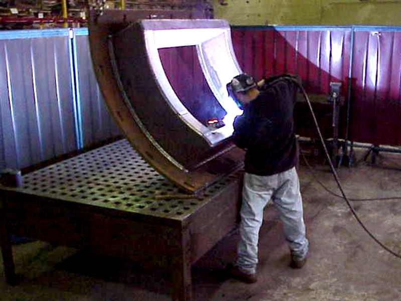 Furnace Door being welded