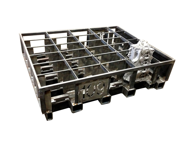 Heat Treat Basket For Engine Blocks