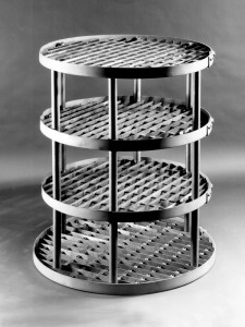 Tiered Round Heat Treat Fixture